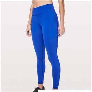 "Lululemon speed up tight 28"" royal blue leggings"